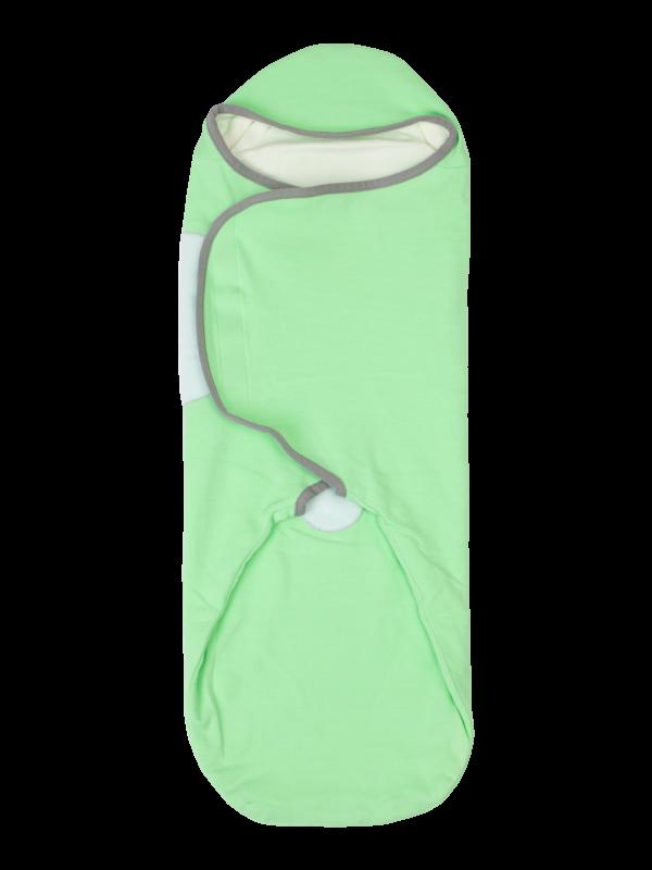 womby bag mit Kapuze in grün/grau (Pucksack)