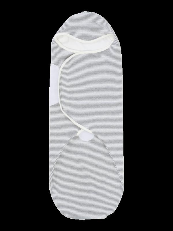 womby bag mit Kapuze in natur/hellgrau (Pucksack)