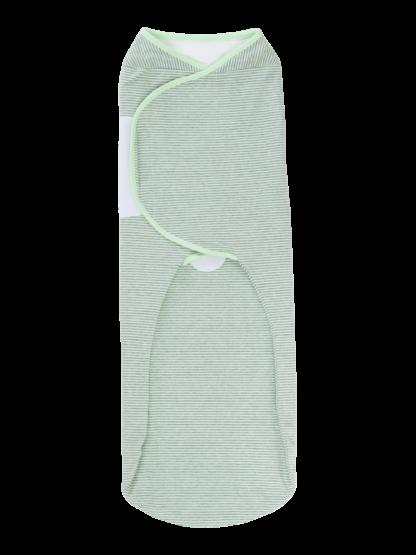 womby bag ohne Kapuze PLUS in hellgrün/hellgrau (Pucksack)
