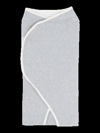 womby wrap ohne Kapuze in natur/hellgrau (Puckdecke)