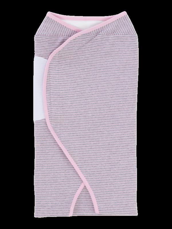 womby wrap ohne Kapuze in rosa/hellgrau (Puckdecke)